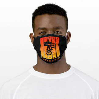 freestyle color orange and yellow adult cloth face mask