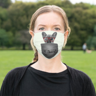 French Bulldog Cute Frenchie Dog Lovers Adult Cloth Face Mask
