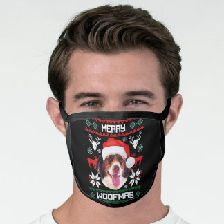 French Spaniel Merry Woofmas Face Mask