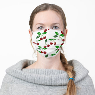 Fresh Cherry Seamless Pattern Choose Color FM Adult Cloth Face Mask
