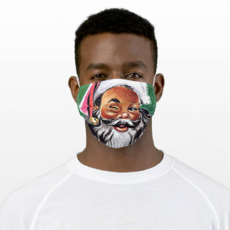 frican American Black Santa Claus Christmas Adult Cloth Face Mask