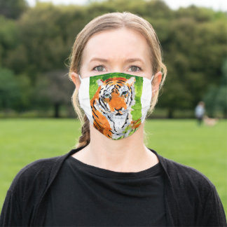 Friendly tiger face mask