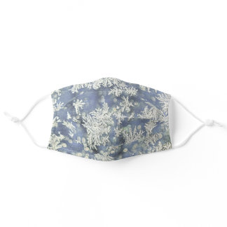 Frost on Blue Metal & Bokeh Abstract Photography Adult Cloth Face Mask
