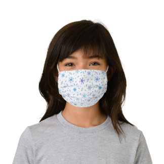 Frozen Crystals and Snowflakes Pattern Kids' Cloth Face Mask
