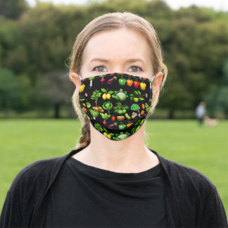 Fruit & Vegetable Design Farmers Market Grocery Adult Cloth Face Mask