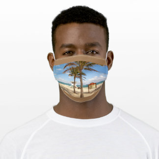 Ft Lauderdale Florida Beach Lifeguard Station Adult Cloth Face Mask