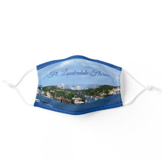 Ft Lauderdale Intracoastal Waterway Boats Skyline Adult Cloth Face Mask