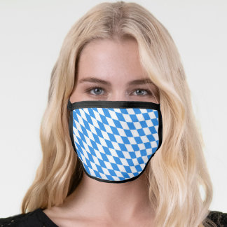 Fun Bavaria Flag Pattern Face Mask