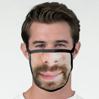 Fun Beard Man Bearded Face Photo Face Mask