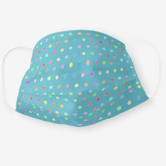 Fun Blue Pink Orange Red Green Purple Polka Dots Cloth Face Mask
