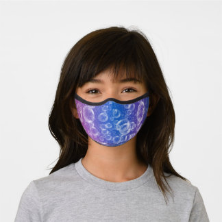 Fun Bubbles on Iridescent Purple and Blue Premium Face Mask
