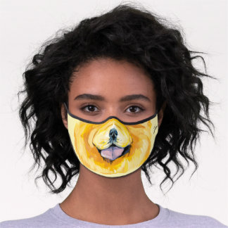 Fun colorful unisex Chow-chow custom name Premium Face Mask