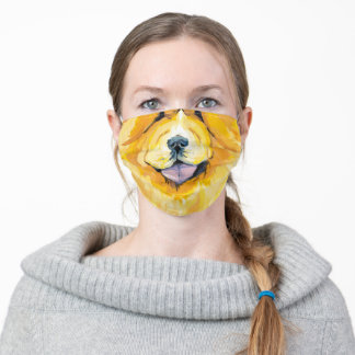 Fun colorful unisex Chow-chow Face Mask