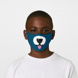 Fun Dog face with nose and tongue pet lover Premium Face Mask