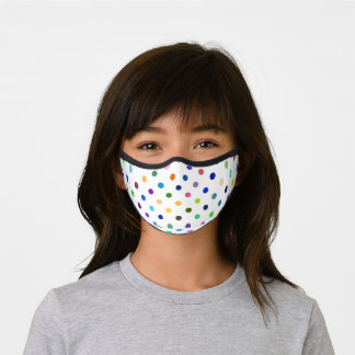 Fun Dots Any Color Background!Premium Face Masks