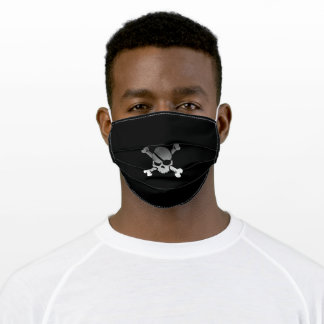 Fun Funky Pirate Skull Adult Cloth Face Mask