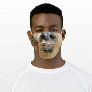 Fun Goat - Tongue - Funny - Adult Cloth Face Mask