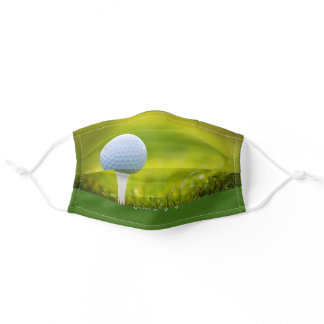 Fun Golfing Men's Comfortable Fabric Adult Cloth Face Mask