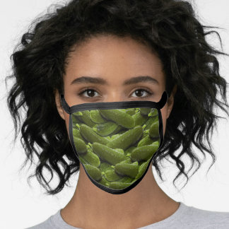Fun Green Dill Pickles Pattern Kitchen Cooking Face Mask