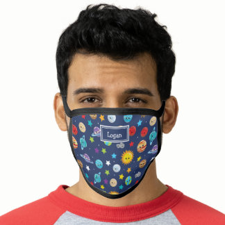Fun Solar System Pattern with Planets Face Mask