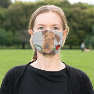 Funny Airedale Terrier Rose Face Mask Gift
