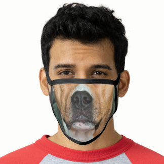 funny animal lover brown boxer dog mouth face mask