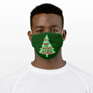 Funny Anti Trump Christmas Adult Cloth Face Mask