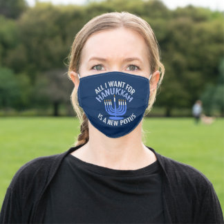 Funny Anti Trump Hanukkah Adult Cloth Face Mask