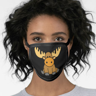 Funny Baby Moose Cartoon Face Mask