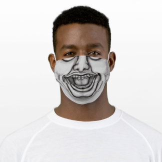 Funny Bad Face Adult Cloth Face Mask