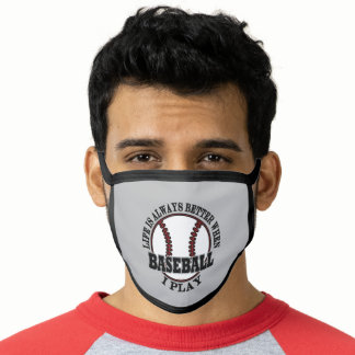 Funny Baseball Sports Life Is Better Playing Ball Face Mask