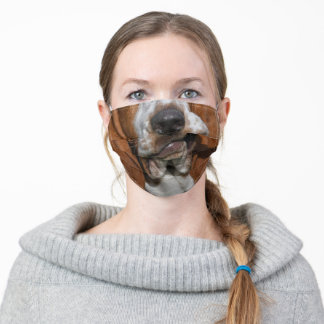 Funny Basset Hound Nose Mouth Adult Cloth Face Mask