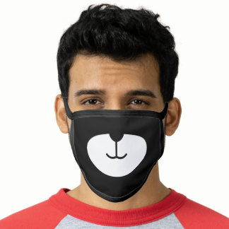 Funny Bear Face Face Mask