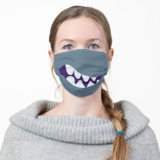 Funny Big Mouth Monster Teeth Smile Adult Cloth Face Mask