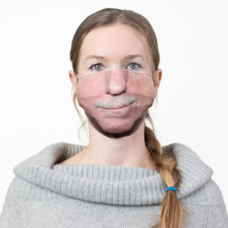 Funny Big Mouth Mustache Smirk Adult Cloth Face Mask