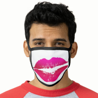 FUNNY Big Red Kissy Lips Face Mask
