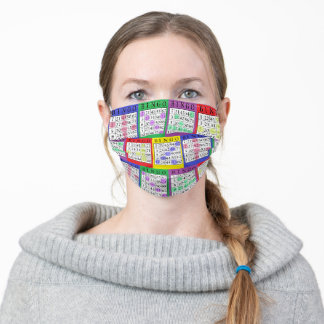 Funny BINGO cards Adult Cloth Face Mask