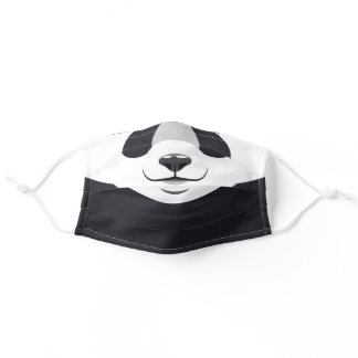 Funny Black and White Panda Print Adult Cloth Face Mask