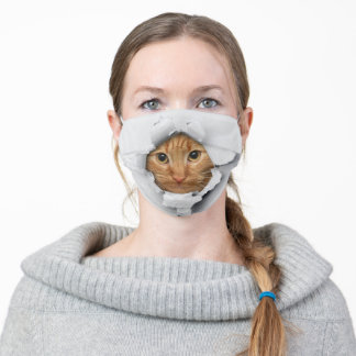Funny Cat Adult Cloth Face Mask