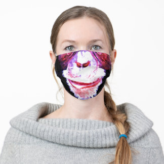 Funny Chimpanzee - Animal Art Adult Cloth Face Mask