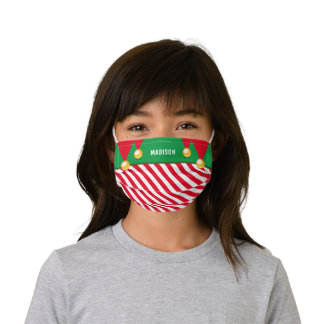 Funny Christmas Elf Personalized Kids' Cloth Face Mask