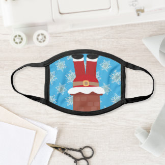 Funny Christmas Santa Claus Stuck in Chimney Face Mask