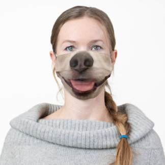 Funny Custom Pet Dog Nose and Mouth Modern Adult Cloth Face Mask
