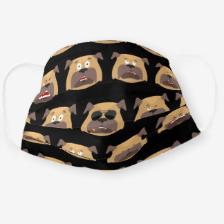 Funny Dog Emoji Cloth Face Mask