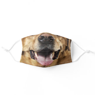Funny Dog Nose Close Up Cloth Face Mask