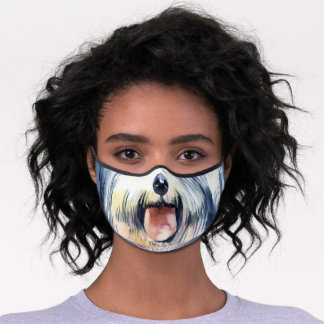 Funny dog puppy nose cute animal premium face mask