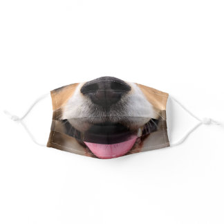Funny dog puppy nose mouth smile muzzle adult cloth face mask