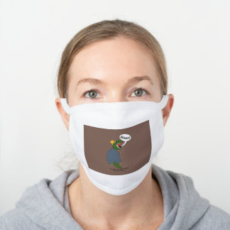 Funny Female Boss Day Dinosaur Personalize White Cotton Face Mask