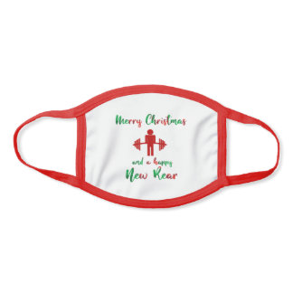 Funny Fitmas Merry Christmas Fitness Gym Trainer Face Mask