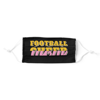 Funny Football And Cheer Mom Adult Cloth Face Mask